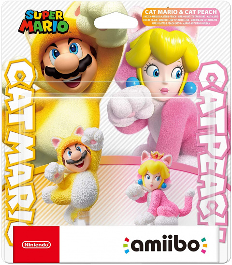 Amiibo : le double pack Mario chat et Peach chat est disponible en précommande