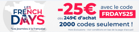 French Days : Les meilleures offres des French Days du Vendredi 25 Septembre 2020