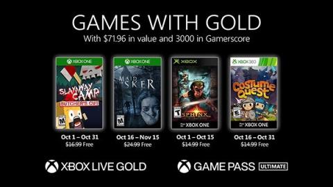 """Xbox Games with Gold : Les jeux """"gratuits"""" d'octobre 2020"""