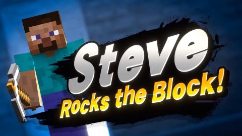 Smash Bros. Ultimate - Steve de Minecraft est le nouveau combattant !