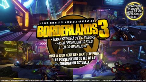 Borderlands 3 sera optimisé sur PS5 et Xbox Series dès la sortie des consoles