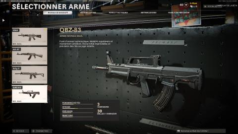Liste des armes