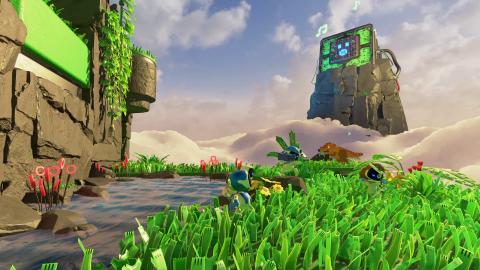 Astro's Playroom : Un voyage à travers l'histoire de Sony, DualSense à la main