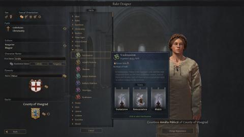 Crusader Kings 3 : la mise à jour 1.2 permet de créer son propre dirigeant