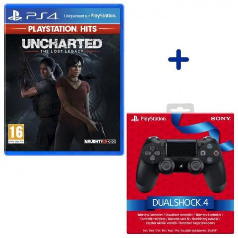 Le lot Uncharted : The Lost Legacy + manette PS4 à petit prix chez Cdiscount