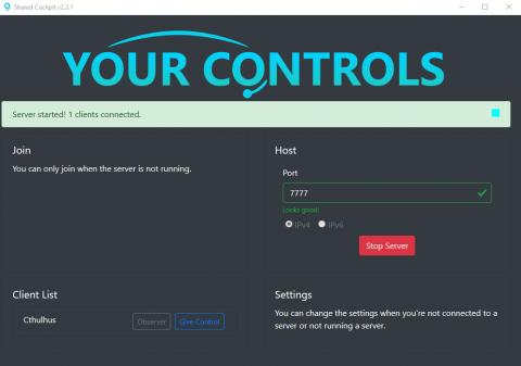 """Flight Simulator : comment voler en cockpit partagé ? Présentation du logiciel """"Your Controls"""""""