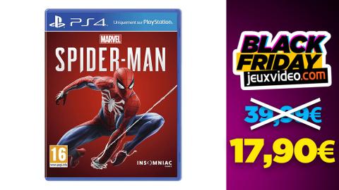 Black Friday : Marvel's Spider-Man PS4 à 17,90€ sur Amazon