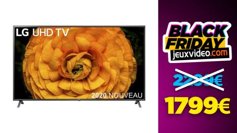 Black Friday : La TV LED LG 86UN8500 86 pouces à -21% chez Darty