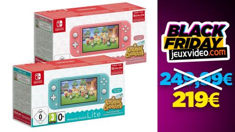 Black Friday : La Nintendo Switch Lite + Animal Crossing : New Horizon baisse les prix chez Amazon