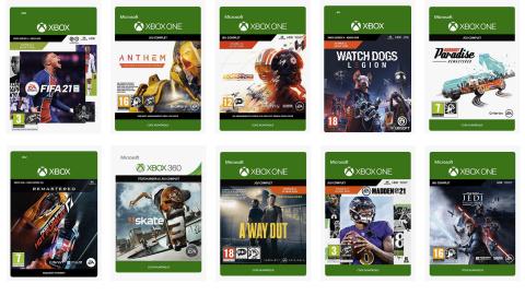 Jusqu'à -75% sur une sélection de jeux Xbox chez Amazon