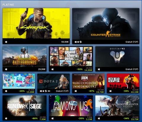Steam : Valve dévoile les jeux les plus populaires et les plus lucratifs de 2020