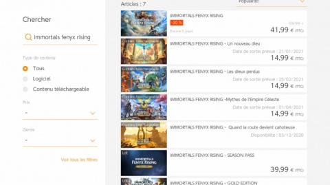 Immortals Fenyx Rising : Des dates de sorties pour les DLC apparaissent sur l'eShop