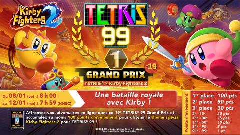 Tetris 99 : Un thème aux couleurs de Kirby Fighters 2 pour le nouveau Grand Prix
