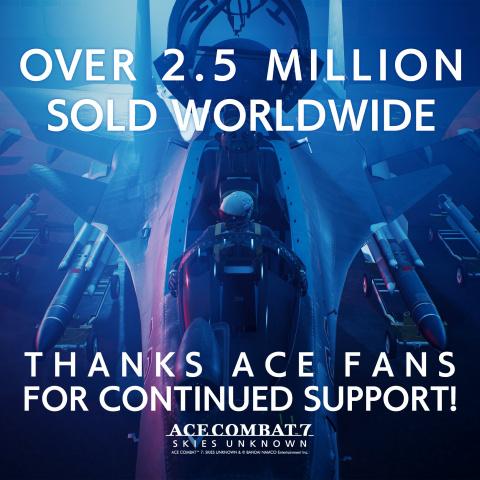 Ace Combat 7 : Plus de 2,5 millions d'exemplaires vendus et une mise à jour pour les deux ans du titre