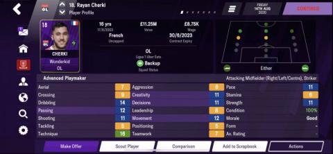 Football Manager 2021 : les pépites au poste d'ailier gauche, notre guide