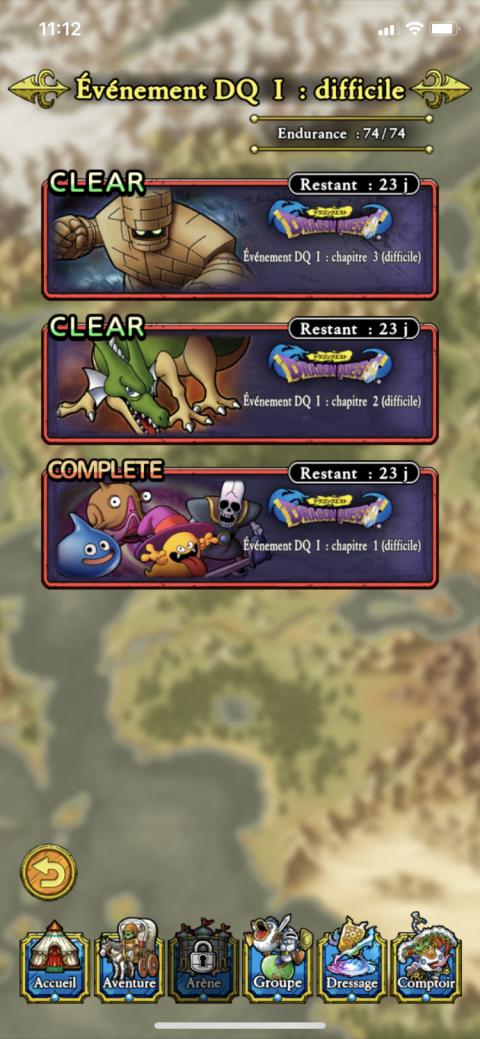 Dragon Quest Tact, événement Dragon Quest 1 : notre guide du premier événement