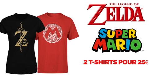 Bon plan Zavvi : 2 t-shirt de jeux Nintendo pour 25€