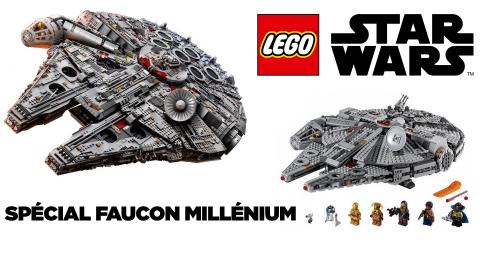 Bon plan Lego Star Wars : le Faucon Millenium en réduction