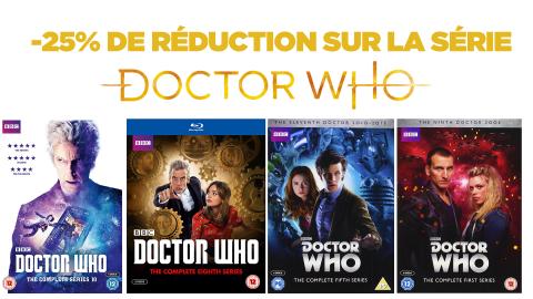 Bon plan Blu-ray : -25% sur les DVD & Blu-Ray de Doctor Who