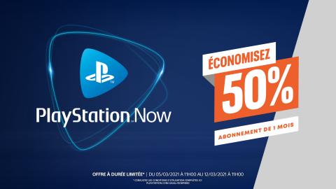 PlayStation Now : l'abonnement 1 mois est à -50% !