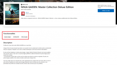 Ninja Gaiden : Master Collection - Du 4K/60 FPS+ prévus sur consoles Xbox