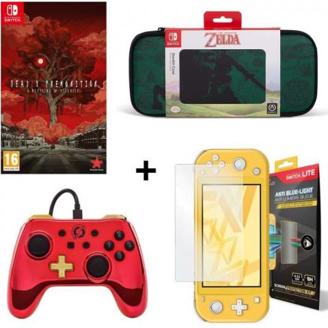Pack accessoires Switch Lite avec Housse de Transport + jeu à moins de 40€