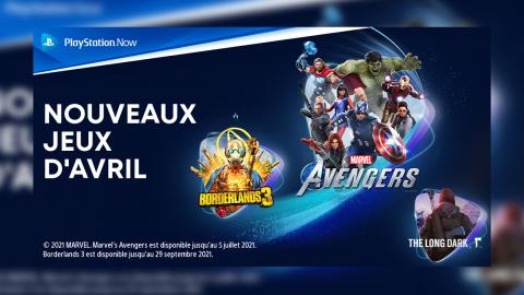 PlayStation Now : Marvel's Avengers, Borderlands 3.. Les nouveautés d'avril !