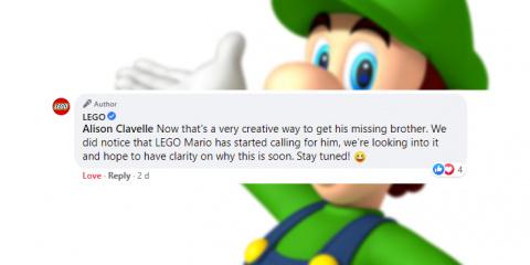 Lego Super Mario appelle son frère Luigi à le rejoindre