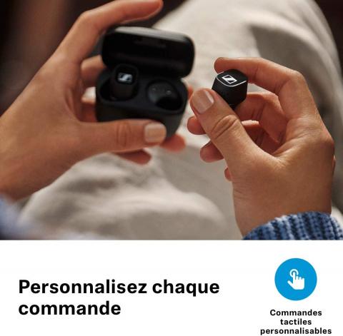 Sennheiser : Écouteurs CX 400BT à commande tactile en réduction de 40%
