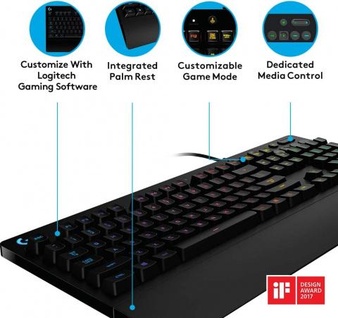 Logitech G213 Prodigy : Un clavier gamer de référence performant et silencieux