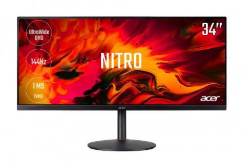 """L'écran de PC Acer Nitro 34"""" QHD 144Hz 1ms en promotion"""