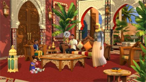 Les Sims 4 : Le kit Riad de Rêve vous emmène au Maroc