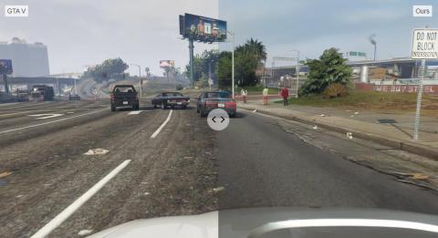 GTA V : Intel utilise le machine-learning pour rendre le jeu photoréaliste
