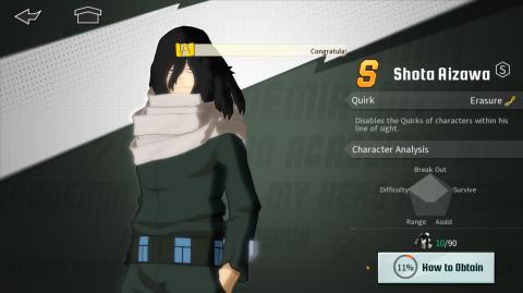 My Hero Academia : The Strongest Hero, tier list des personnages du jeu
