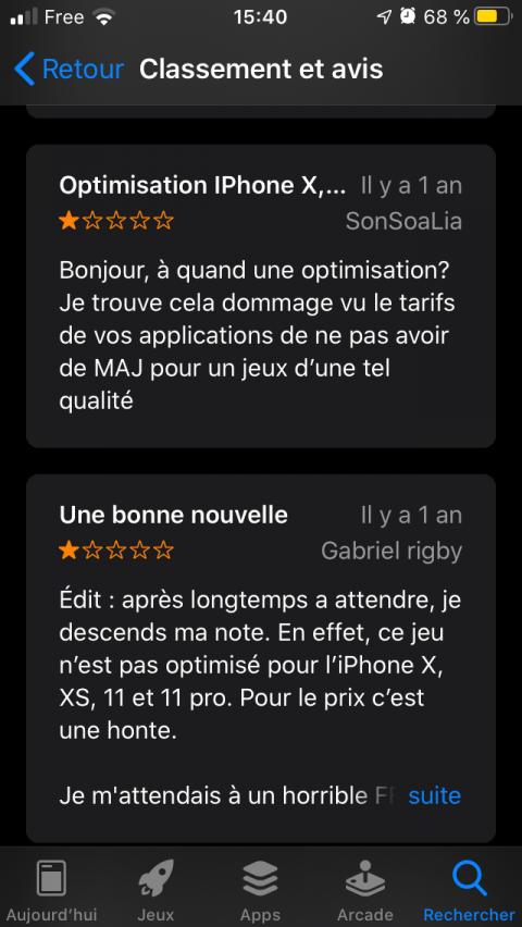 Square vend toujours des jeux sur iOS qui ne fonctionnent plus