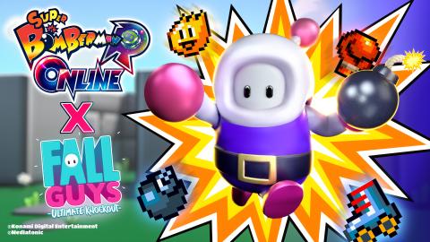 Super Bomberman R Online : Fall Guys vient fêter la sortie du jeu