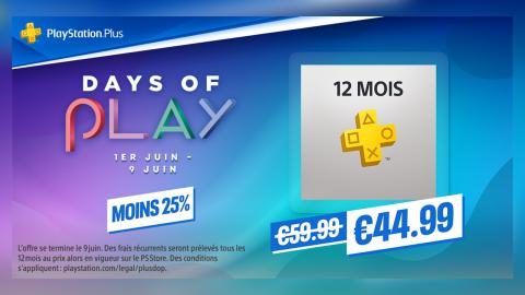 PlayStation Plus : l'abonnement 12 mois à -30% pour les Days of Play !