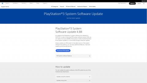 PlayStation : La PS3 est toujours mise à jour !