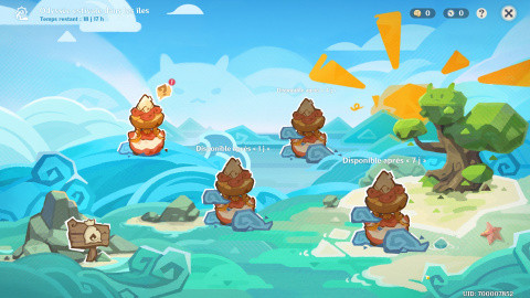"""Genshin Impact, guide événement """"Odyssée estivale dans les îles"""" : Primo-gemmes et nouvelle arme à gagner (3eme jour)"""