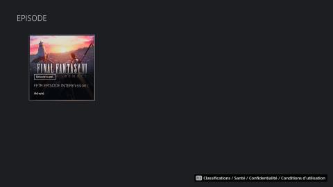 Final Fantasy VII INTERmission : Des joueurs ne peuvent pas le télécharger