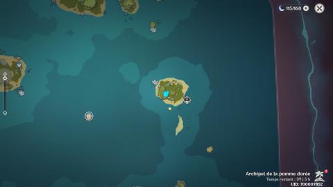 Genshin Impact, l'Archipel de la Pomme Dorée : Emplacement des conques d'écho et des trésors cachés (3ème jour)