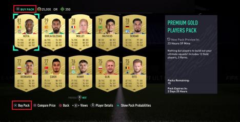 FIFA : Les packs FUT sont désormais pré-visualisables avant achat !