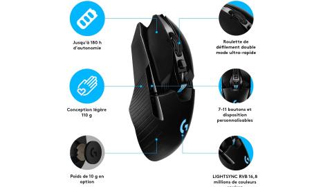 Soldes : Prix de folie pour la souris gamer sans fil Logitech G903 Lightspeed