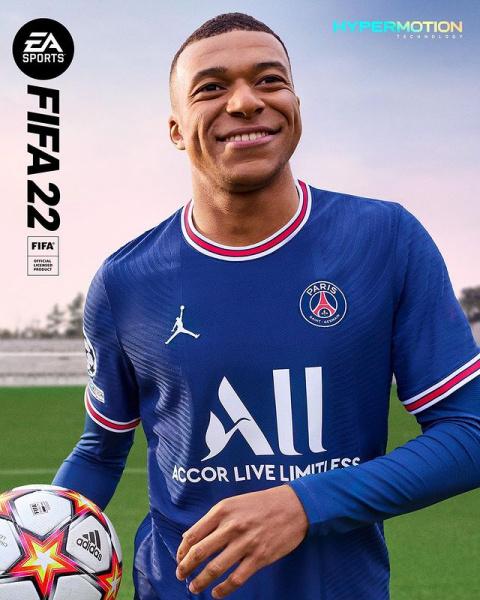 FIFA 22 : Electronic Arts dévoile la jaquette avec Kylian Mbappé