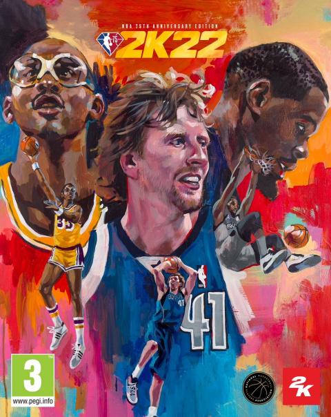 NBA 2K22 : Dirk Nowitzki, Kareem Abdul-Jabbar et Kevin Durant sur la jaquette de l'édition 75ème anniversaire de la NBA