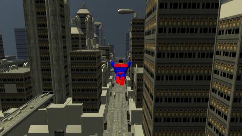 Superman : le prototype dévoilé d'un jeu en développement en 2008 par Factor 5 (Star Wars Rogue Squadron)