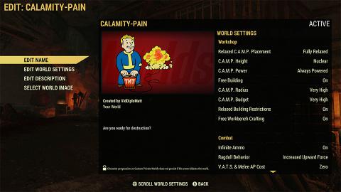 Fallout 76 : les serveurs privés bientôt personnalisables grâce à Fallout Worlds