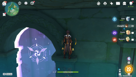 Genshin Impact, débloquer le point de téléportation et le donjon d'Inazuma sous l'eau