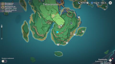 Genshin Impact, l'emplacement des sanctuaires d'Inazuma