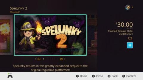 Spelunky 1 et 2 : une sortie sur Switch pour la fin de l'été ?